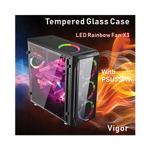 ATX Case ITSONAS Vigor Rainbow (Black)
