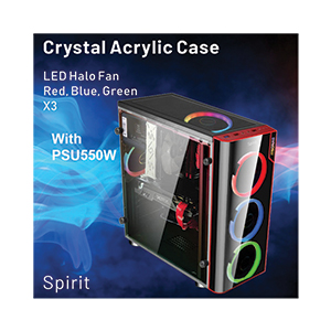 ATX Case ITSONAS Spirit Halo (Black)