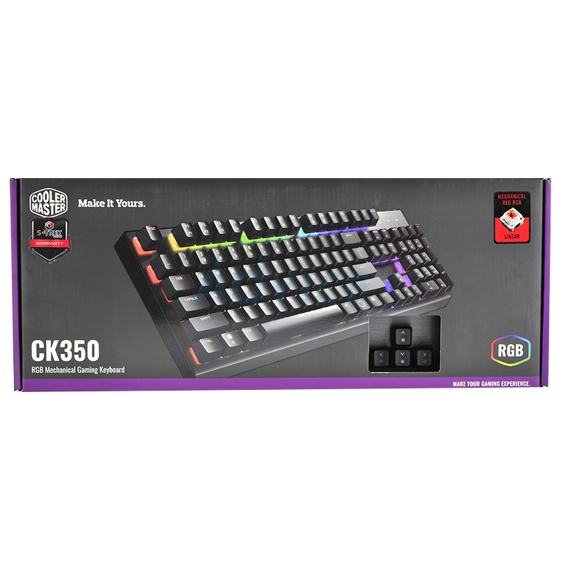 KEYBOARD COOLERMASTER CK350 RGB (RED-SWITCH) (TH)