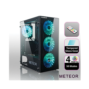 ATX Case (NP) ITSONAS Meteor Tempered Glass RGB (Black)