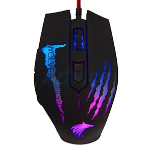 OPTICAL MOUSE WOLVES-ORIGIN GRAB (BLACK)