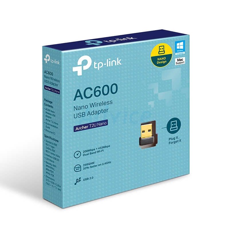 Wireless USB Adapter TP-LINK (Archer T2U Nano) AC600 Dual Band