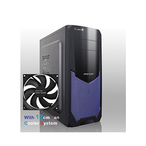 ATX Case (NP) CUBIC Armor Plus (Black/Blue)