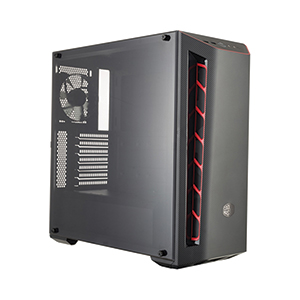 ATX Case (NP) COOLERMASTER MB510L TG (Black/Red)