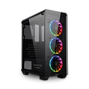 ATX Case (NP) TSUNAMI Unlimited SKY Plus Dual Ring (Black)