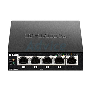 Gigabit Switching Hub D-LINK (DGS-1005P) 5 Port (4-Port PoE) (4