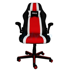 CHAIR SIGNO GC-201BR Balios (Black/Red/White)