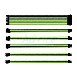 CABLE COOLERMASTER Sleeved Extension Kit 30cm (Black/Green)