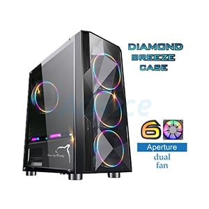 ATX Case (NP) ITSONAS Diamond Breeze (Black)