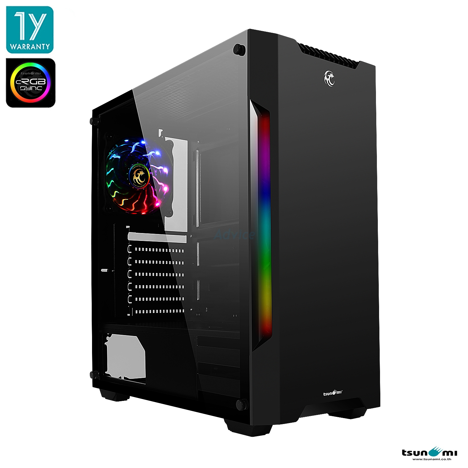 ATX Case (NP) TSUNAMI Pro Hero K10 Phantom (Black)