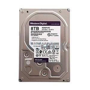 8 TB HDD CCTV WD Purple (7200RPM, 256MB, SATA-3, WD82PURZ)