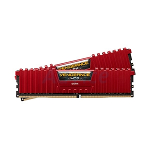RAM DDR4(3200) 16GB (8GBX2) CORSAIR Vengeance LPX Red (CMK16GX4M2B3200C16R)