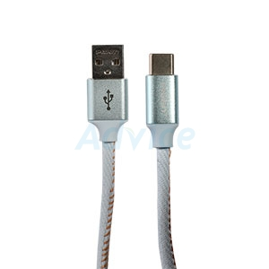 Cable USB To Type-C (1.2M,TC23-1200) 'PISEN' Light Blue