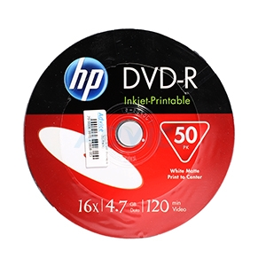 DVD-R HP (50/Pack) Printable