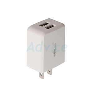 Adapter 2 USB (2.4A,WP-U61) 'WK' White