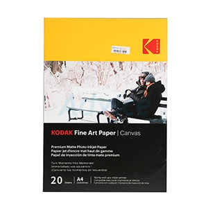 Photo Inkjet Fine Art Paper Canvas KODAK (20/Pcs)