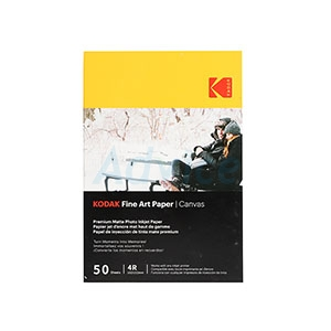 Photo Inkjet Fine Art Paper Canvas KODAK (50/Pcs)