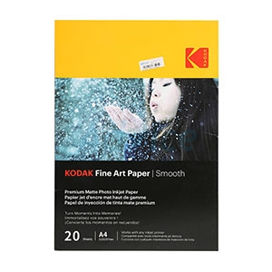 Photo Inkjet A4 Fine Art Paper Smooth KODAK (20/Pcs)