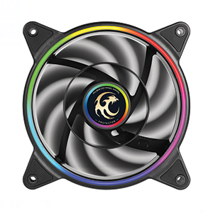 FAN CASE 12cm TSUNAMI 1250 ARGB (Black)