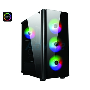 ATX Case (NP) TSUNAMI Galaxy G13 Ablaze Fan (Black)