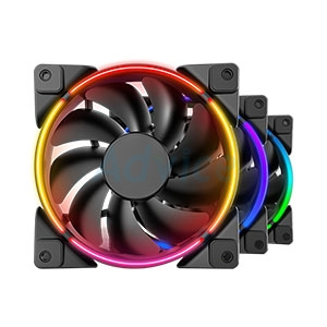 FAN CASE 12cm PCCOOLER CORONA 3-IN-1 FRGB KIT