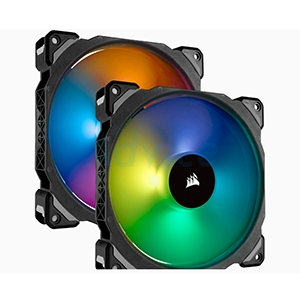 FAN CASE 14cm CORSAIR ML140 Pro (RGB,Pack2)