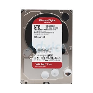 6 TB HDD WD Red NAS (5400RPM, 64MB, SATA-3, WD60EFRX)