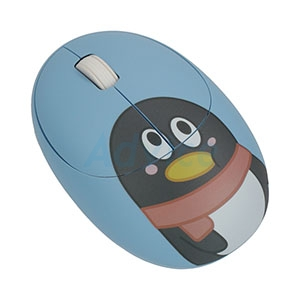 Wireless Optical Mouse USB QQFamily (QM710-silent click) Blue