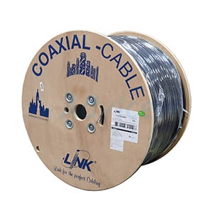 Cable 500M RG6/168 LINK Power Line#CB-0109SMW+ (มีสลิง)