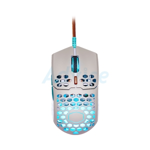 OPTICAL MOUSE COOLERMASTER MM711 RETRO GAMING (GRAY/SKY BLUE)