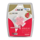 4 Port USB HUB OKER (H365) คละสี