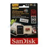 Micro SD 32GB SanDisk Extreme (SDC10  Class 10) 90 MB/s