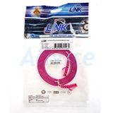 CAT5e UTP Cable 3m. LINK (US-5043-7) Pink (สายแบน)