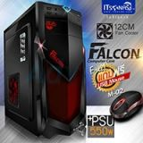 ATX Case ITSONAS Falcon (Black-Red)