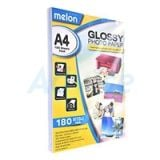 MELON Photo Inkjet Glossy A4 180G. (100/Pack)